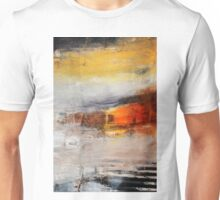 Abstract Orange Black Print from Original Painting  Unisex T-Shirt