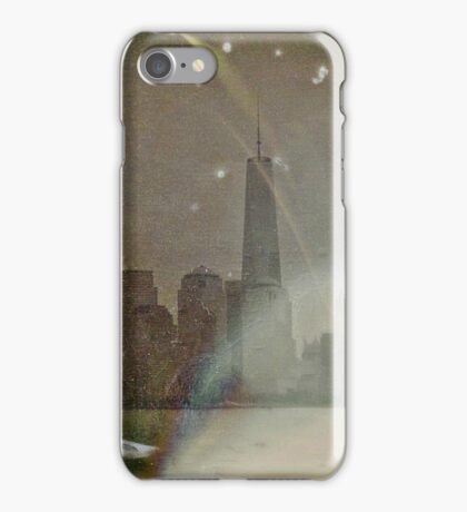 1World Trade Center Dry Plate Tintype Photograph iPhone Case/Skin