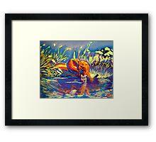 Technicolour Elephant Framed Print