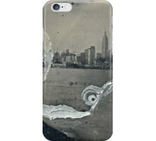 "NYC Skyline with ESB ""tintype"" photograph iPhone Case/Skin"