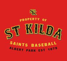 Property of St Kilda Baseball Club T-shirt Red by St Kilda Baseball Club