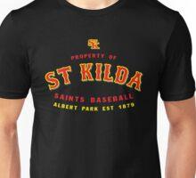 Property of St Kilda Baseball Club T-shirt Black/Grey/Charcoal/White Unisex T-Shirt