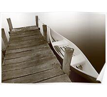 Boat ramp at dusk Poster