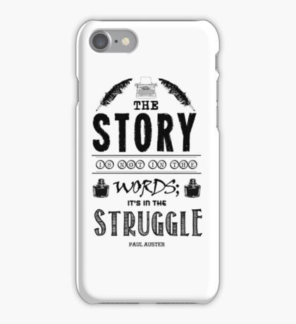 Writing And Writers Design Paul Auster Quote iPhone Case/Skin