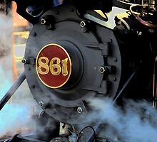 Engine 861 Ready To Ride The Rails by Ronald Rockman