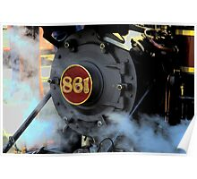 Engine 861 Ready To Ride The Rails Poster