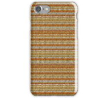 Knitted Pattern Set 3 - Orange/Yellow iPhone Case/Skin