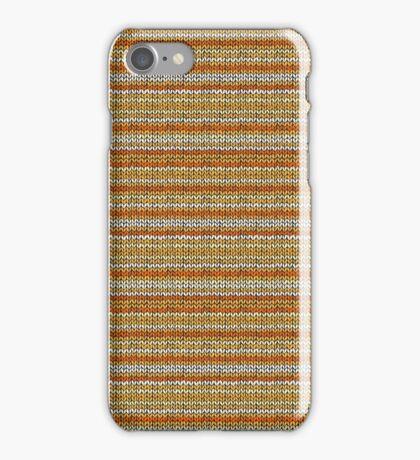Knitted Pattern Set 3 - Orange/Yellow iPhone Case/Skin