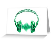Headphone, Music, Disco, Dance, Electro, Trance, Techno, Wave, Pulse,  Greeting Card