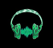 Headphone, Music, Disco, Dance, Electro, Trance, Techno, Wave, Pulse,  by boom-art
