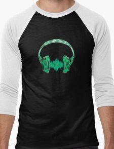 Headphone, Music, Disco, Dance, Electro, Trance, Techno, Wave, Pulse,  Men's Baseball ¾ T-Shirt