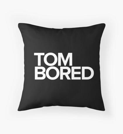 Tom Bored Throw Pillow
