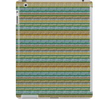 Knitted Pattern Set 4 - Orange/Yellow/Green/Blue iPad Case/Skin