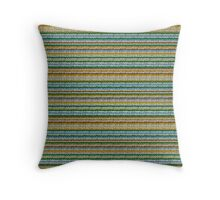Knitted Pattern Set 4 - Orange/Yellow/Green/Blue Throw Pillow