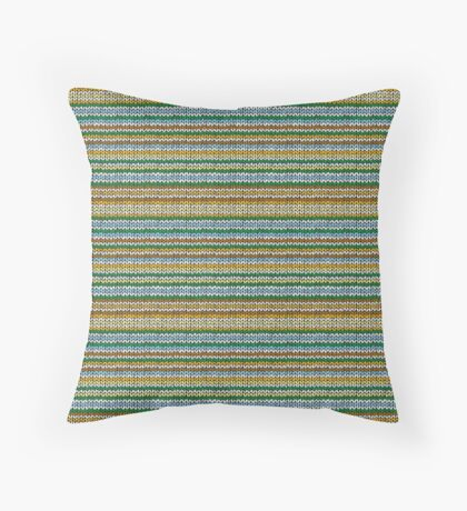Knitted Pattern Set 4 - Orange/Yellow/Green/Blue Throw Pillow
