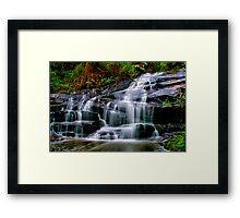 """Cora Lynn Cascades"" Framed Print"