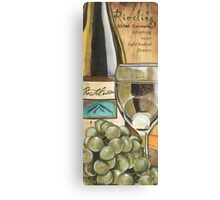 Riesling and Grapes Canvas Print