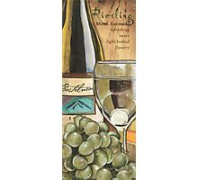 Riesling and Grapes Photographic Print