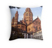 Cathdedral in Mainz Throw Pillow