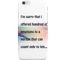 Emotions.. iPhone Case/Skin
