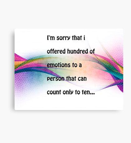 Emotions.. Canvas Print