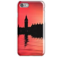 Night flight over London iPhone Case/Skin