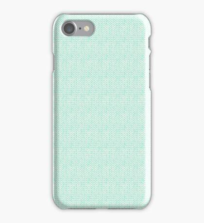 Knitted Pattern Set 6 - Light Blue iPhone Case/Skin