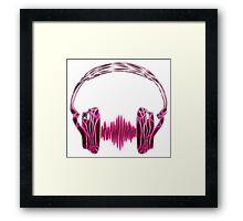 Headphone, Music, Disco, Dance, Electro, Trance, Techno, Wave, Pulse,  Framed Print