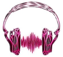 Headphone, Music, Disco, Dance, Electro, Trance, Techno, Wave, Pulse,  Photographic Print