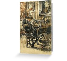 Van Gogh visits Brooklyn-Pen and Ink, wash Greeting Card