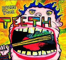 Brush Your TEETH! Hilarious Character Illustration Design - Good Hygiene Incentive! by capartwork