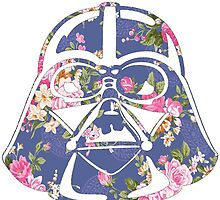 Floral Darth Vader Helmet Design by hellosailortees
