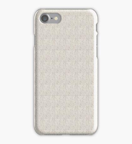 Knitted Pattern Set 7 - Grey iPhone Case/Skin
