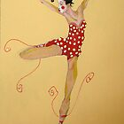 Dancin&#x27; in Red Ballet shoes by Cordell Cordaro