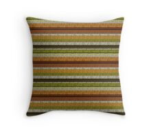 Knitted Pattern Set 9 - Yellow/Green/Brown Throw Pillow