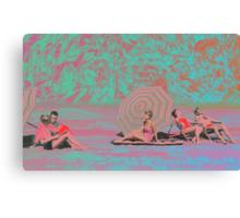 BEACH GOERS GO FUNKY Canvas Print