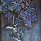 Flowers Blue... by C Rodriguez