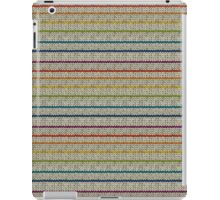 Knitted Pattern Set 10 - Stripes Rainbow 1 iPad Case/Skin