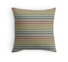 Knitted Pattern Set 10 - Stripes Rainbow 1 Throw Pillow