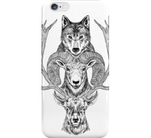 Wolf Ram Hart iPhone Case/Skin