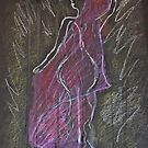 Woman Posed in Pink by C Rodriguez