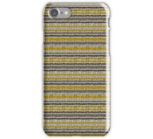 Knitted Pattern Set 11 - Stripes Yellow/Grey iPhone Case/Skin