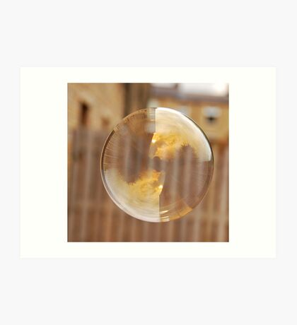 Wheaty Soap Bubble Art Print