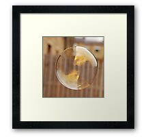 Wheaty Soap Bubble Framed Print
