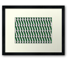 Green Rectangle Pattern Framed Print