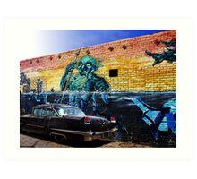 Black Cadillac Art Print