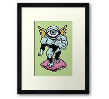 Hang Loose, Winged Eye-Face Framed Print