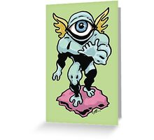 Hang Loose, Winged Eye-Face Greeting Card