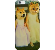Polaroid doge and cat meme iPhone Case/Skin