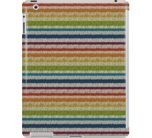 Knitted Pattern Set 13 - Stripes Rainbow 2 iPad Case/Skin